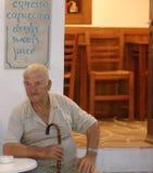 Greek man at tavern Royalty Free Stock Images