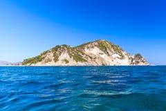Greek Marathonisi or Turtle islet near Zakynthos Stock Photo