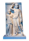 Greek marble votive stele of Apollo Stock Photography