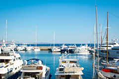 Greek marina. Luxury yachts in a Greek marina, Athens-Greece royalty free stock image
