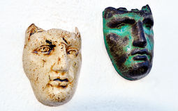 Greek masks Stock Images