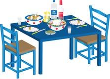 Greek Meal Stock Photo
