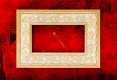 Greek Meandros Frame on grunge background. Clipping path included Stock Photo