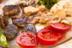 Greek Meat Platter Stock Photos