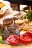 Greek Meat Platter Royalty Free Stock Images