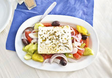 Greek mediterranean salad Stock Photos