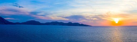 Greek Mediterranean Sunset Stock Image
