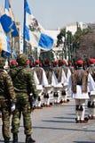 Greek military parade Royalty Free Stock Image