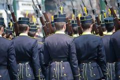 Greek military parade Stock Photos