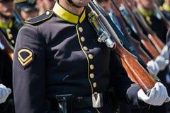 Greek military parade Royalty Free Stock Photography