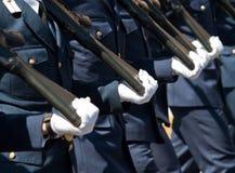 Greek military parade Royalty Free Stock Photo