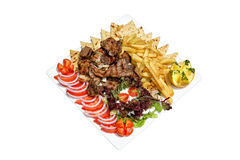 Greek mixed grill Stock Photo