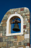 Greek modern bell tower Royalty Free Stock Photos