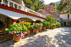 Greek monastery in Lassithi mountains Royalty Free Stock Images