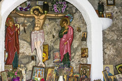 Greek Monastery Religious Pictures Stock Photo