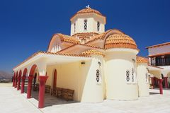 Greek monastery. In the Spili, Crete, Greece Royalty Free Stock Images