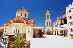 Greek Monastery. In the Spili, Crete, Greece Stock Photos