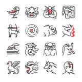 Greek monster mythology icon 1 Royalty Free Stock Photos