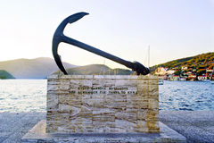 Greek monument in Ithaca island royalty free stock image