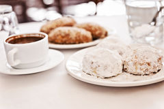 Greek morning tea Stock Image