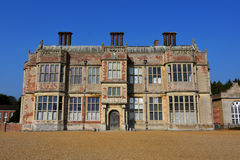 Greek Motif at Felbrigg Hall, Norfolk, England. Side view of Felbrigg Hall, Norfolk with Greek motif sculptures on the roof of the house royalty free stock photography