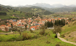 Greek mountain village of Kalavryta. At Peloponnese, Greece Stock Photography