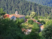 Greek Mountain Village Royalty Free Stock Images