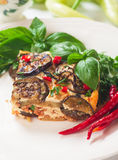 Greek moussaka with eggplant and minced meat Stock Photo