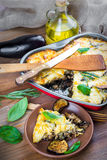 Greek Moussaka of eggplant royalty free stock photos