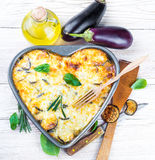 Greek Moussaka of eggplant Stock Photo