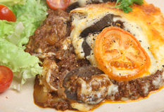 Greek Moussaka Meal Royalty Free Stock Images