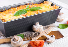 Greek moussaka royalty free stock photos