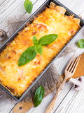 Greek moussaka stock images
