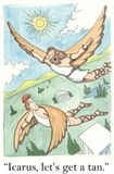 Greek mythology. Icarus, let's get a tan Royalty Free Stock Photography