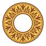 Greek national antique round pattern, . Royalty Free Stock Photo