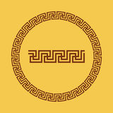 Greek national antique round pattern, . Stock Photography