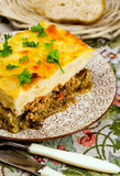 Greek national cuisine mussaka Stock Photography