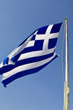 The Greek national flag Stock Photography