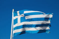 Greek national flag Stock Image