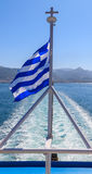 The Greek National flag Stock Image