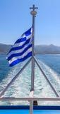 The Greek National flag Stock Image