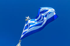 The Greek National flag Royalty Free Stock Image