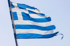 Greek National Flag Royalty Free Stock Photo