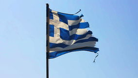 Greek National Flag stock video