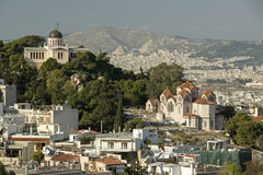 Greek National Observatory and Saint Marina Church, Athens Royalty Free Stock Image