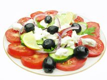 Greek national salad Stock Photography