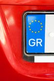 Greek number plate Royalty Free Stock Photography