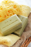 Greek olive soap Stock Photography