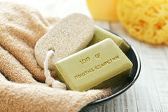 Greek olive soap Royalty Free Stock Image