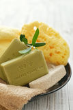 Greek olive soap Stock Photo